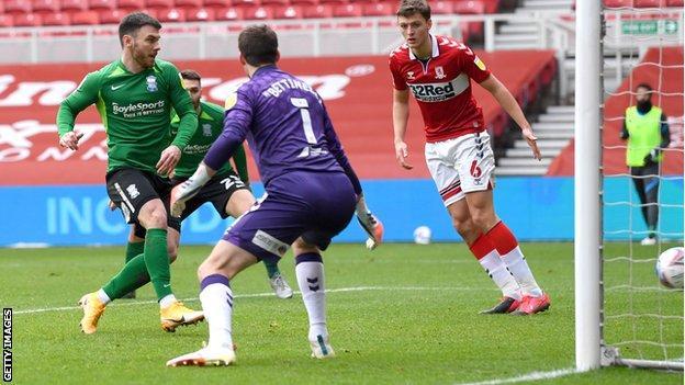 Scott Hogan scores against Middlesbrough