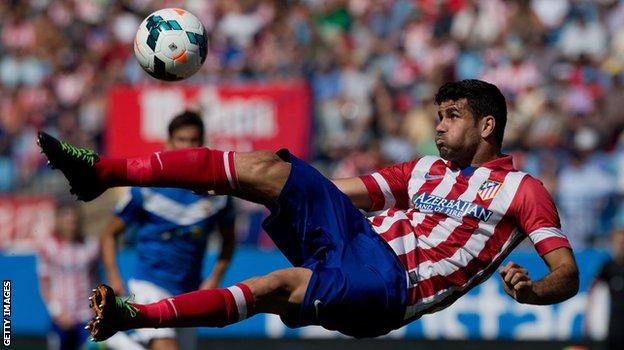 Diego Costa in action for Atletico Madrid