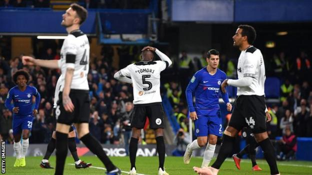Derby players react to first own goal