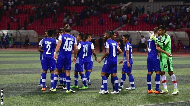 Bengaluru FC players celebrate