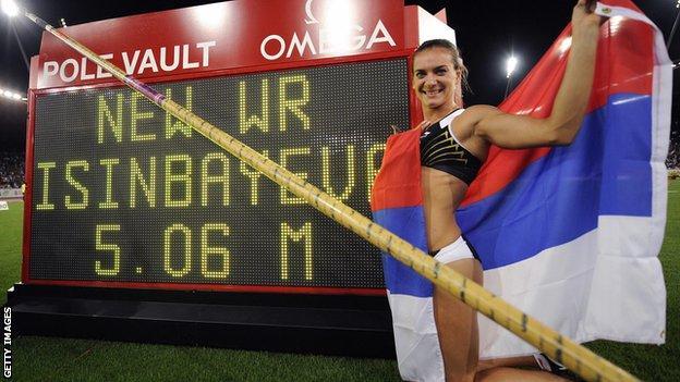 Isinbayeva has set 28 world records