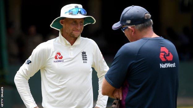 England captain Joe Root and coach Chris Silverwood