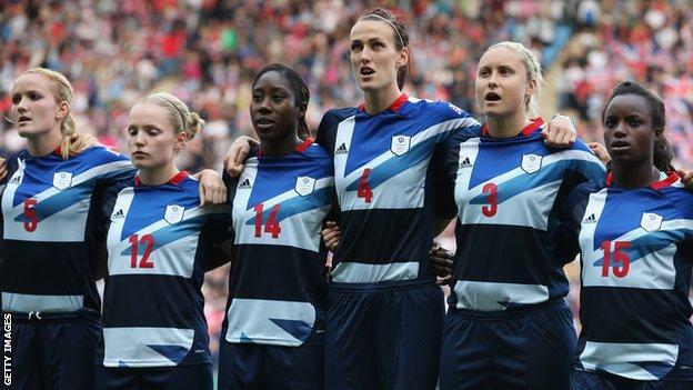 Team GB women at London 2012