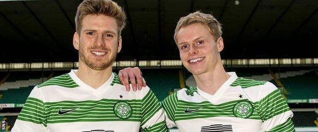 Celtic midfielders Stuart Armstrong and Gary Mackay-Steven