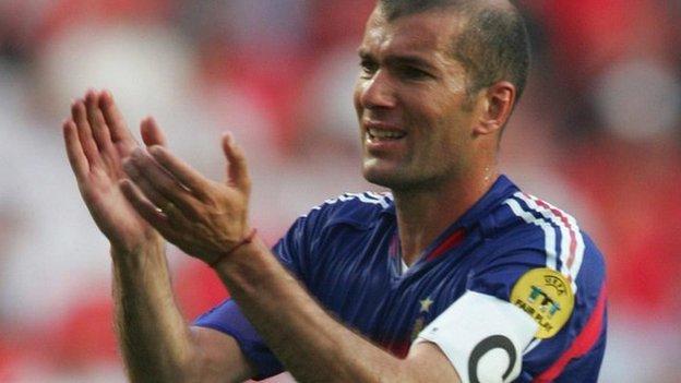 France's Zinedine Zidane