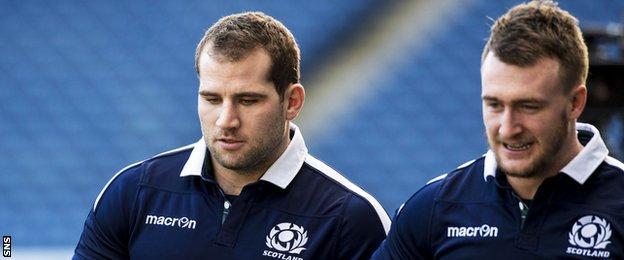 Fraser Brown and Stuart Hogg