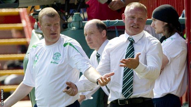 Brian Rice (left) worked with John Hughes at Hibernian