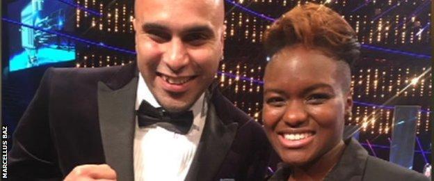 Marcellus Baz with Nicola Adams