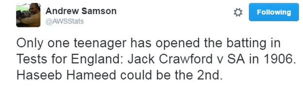 Andrew Samson tweet