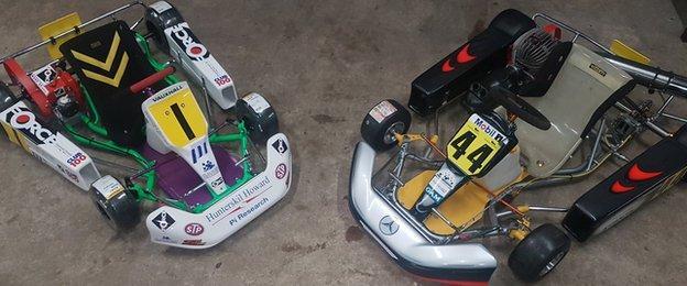 Lewis Hamilton's old karts