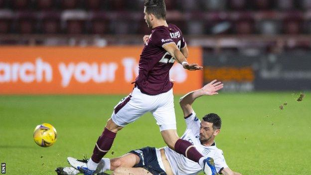 Midfielder Graham Dorrans played 25 games in the Championship for Dundee