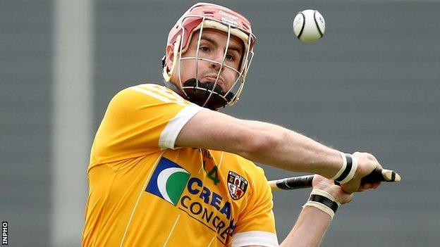 Liam Watson in action for Antrim against Westmeath in the 2012 Leinster Championship