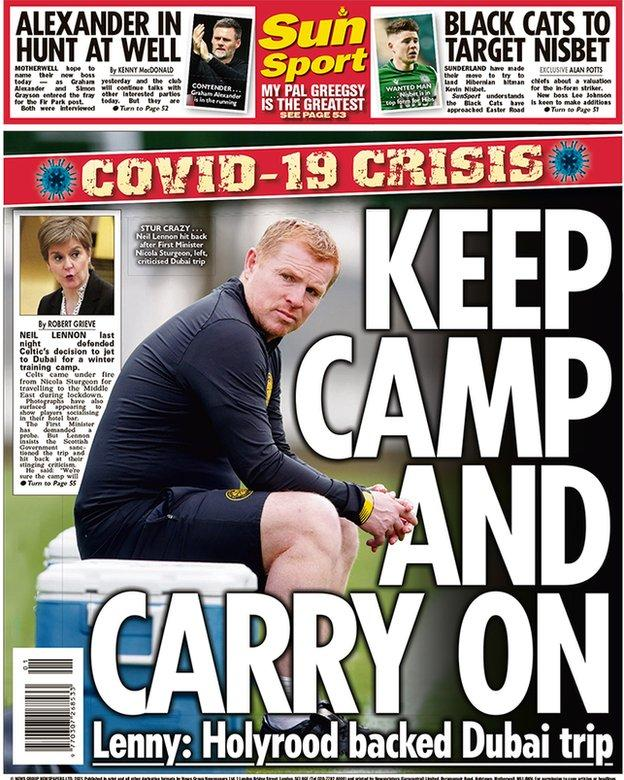 Scottish Sun back page