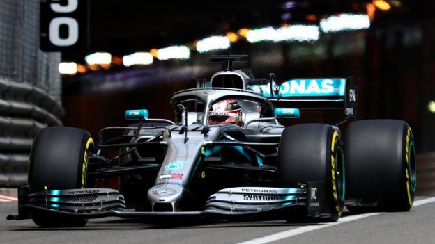 Monaco Grand Prix: Lewis Hamilton leads Mercedes one-two in practice thumbnail