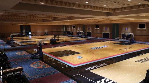 NBA practice court