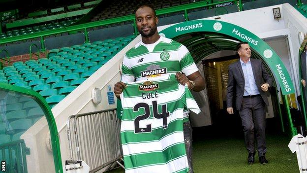 Celtic striker Carlton Cole