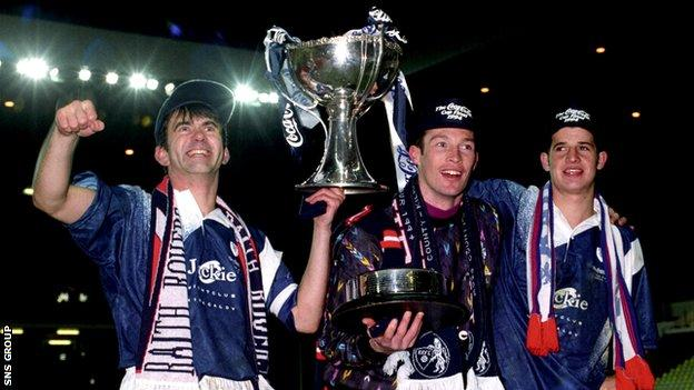 Raith Rovers beat Celtic in the 1994 League Cup final