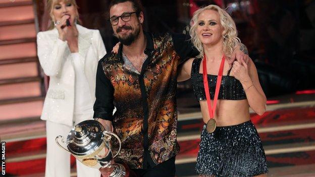 Dani Osvaldo and dance partner Veera Kinnunen