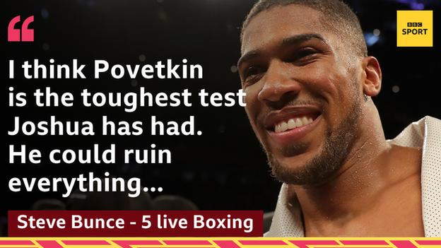 Joshua must negotiate Alexander Povetkin before any bout is signed for 13 April