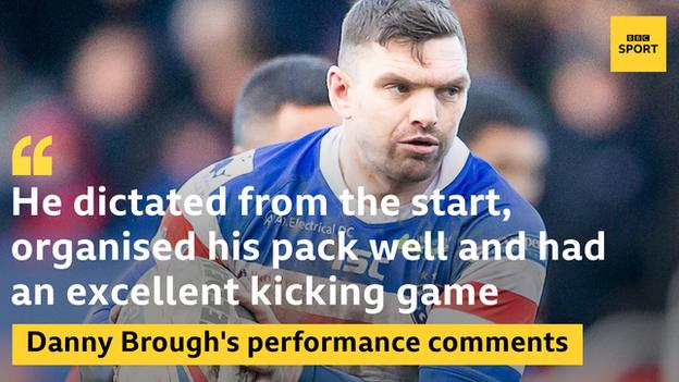Danny Brough's stats from Friday's win against Hull FC