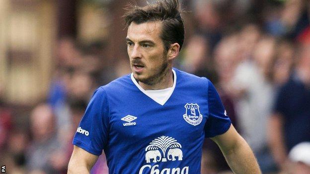 Everton left-back Leighton Baines