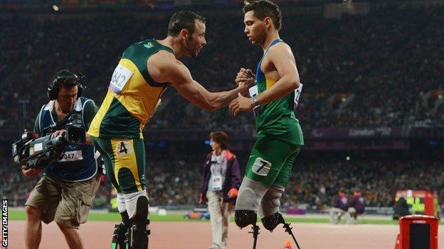 Oscar Pistorius and Alan Oliveira