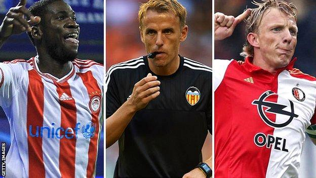 Brown Ideye, Phil Neville and Dirk Kuyt