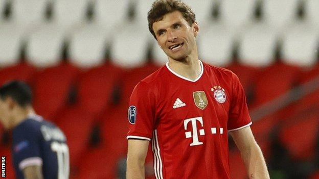 Thomas Muller looks on dejected