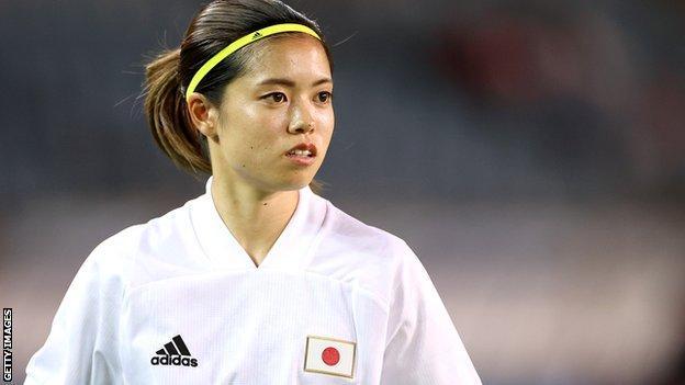 Yui Hasegawa en acción para Japón