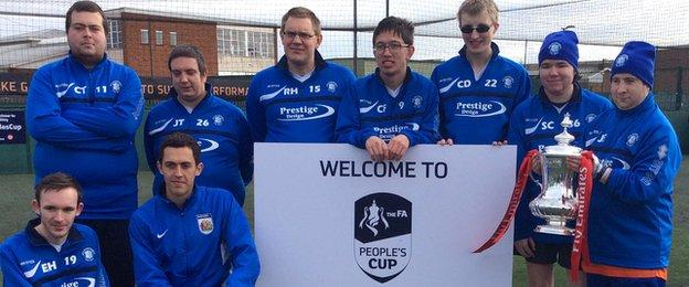 AFC Dunstable have the honour of getting their hands on the FA Cup in Luton
