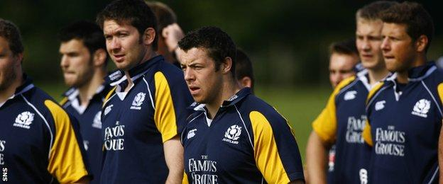 Alasdair Dickinson in training for Scotland in 2007