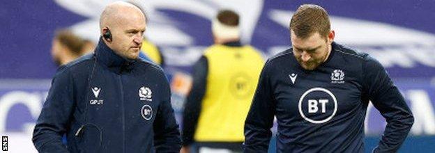 Scotland's Gregor Townsend and Finn Russell