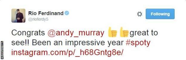 Rio Ferdinand tweet snip