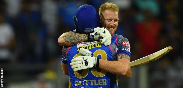 England's Ben Stokes and Jos Buttler in the Indian Premier League
