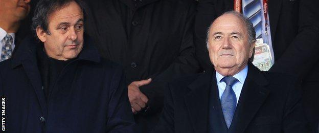 Michel Platini & Sepp Blatter
