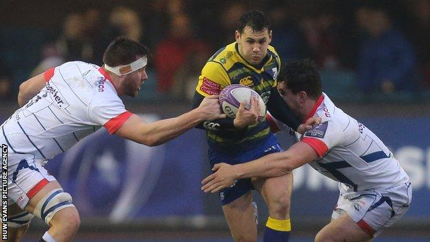 Tomos Williams in action for the Blues against Sale Sharks