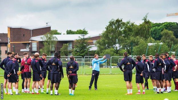 Hearts returned to training last week