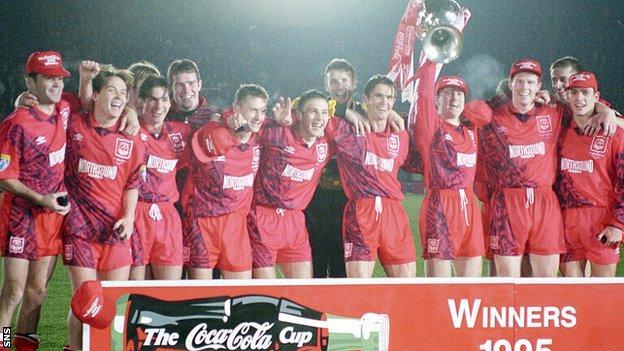 Billy Dodds and Stephen Glass were part of Aberdeen's 1995 League Cup-winning team
