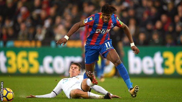 Wilfried Zaha was a threat for Palace