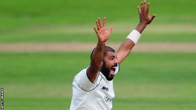 Warwickshire spinner Jeetan Patel is this season's leading County Championship wicket taker