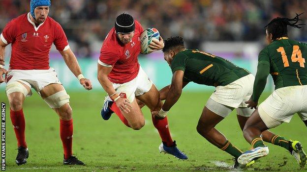 Leigh Halfpenny in action against South Africa in the 2019 World Cup semi-final