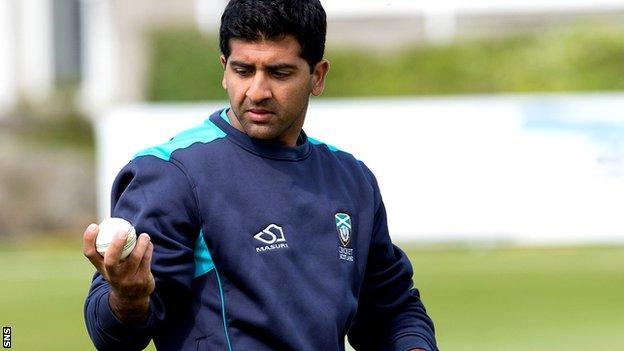 Scotland's all-time leading wicket-taker Majid Ha