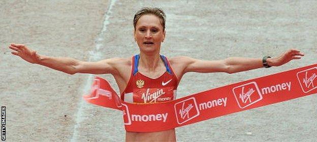 Liliya Shobukhova says Russian officials rather than athletes should be punished