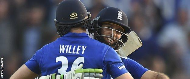 David Willey and Moeen Ali