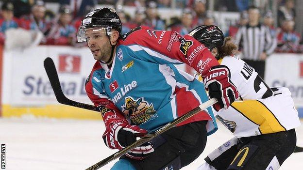 Blair Riley scored the Giants' first goal against the Panthers