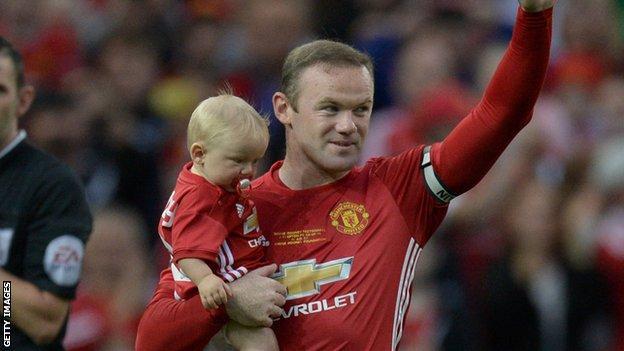 Wayne Rooney and son Kai
