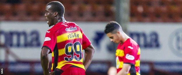 Partick Thistle forward Mathias Pogba