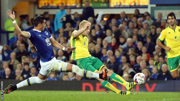 Steven Naismith scores for Norwich