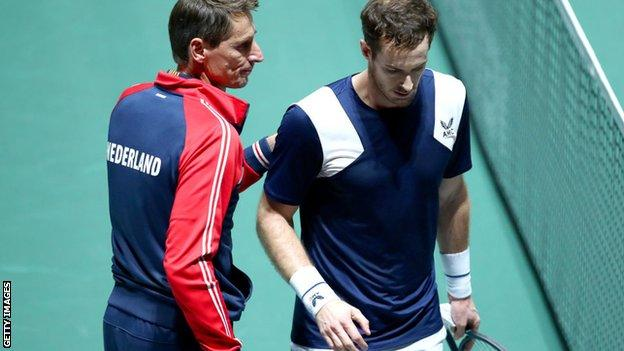 Andy Murray at the Davis Cup