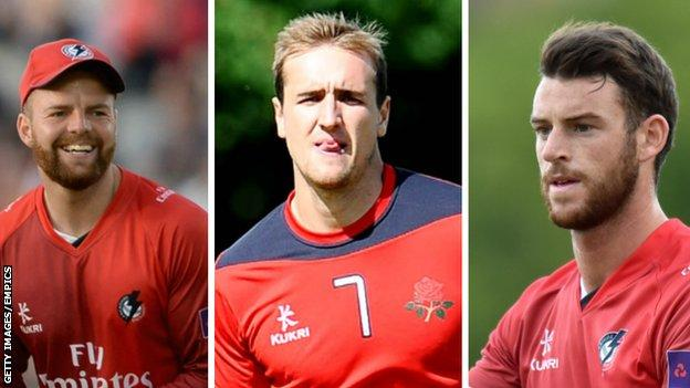 Arron Lilley, Liam Livingstone and Jordan Clark